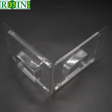Custom thermoforming blister clamshell tray, transparent PET plastic clamshells, disposable PET plastic packaging