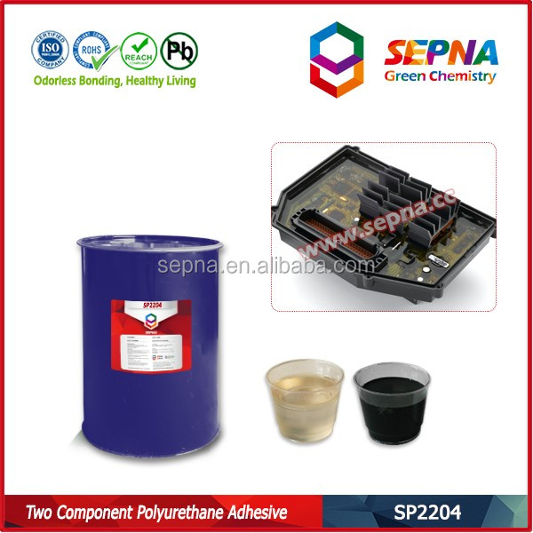 SP2204 green free of heavy metal polyurethane glue for water permeable components casting and potting