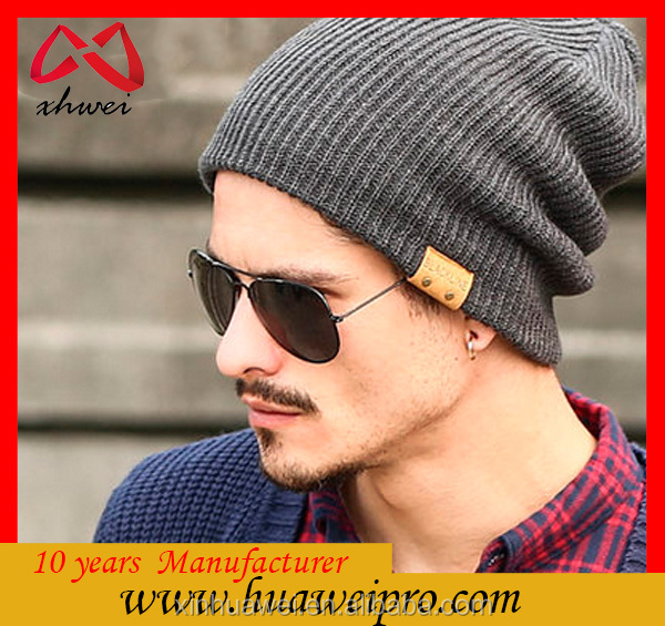 Unisex Gender and Common Fabric Feature wool knitted beanie hat
