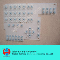silicon rubber keypad with conductive pills