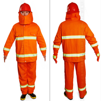 Orange color fireproof safety working suit for firefighters