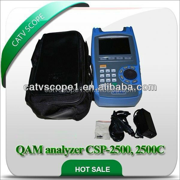 Digital TV Spectrum analyzer/ QAM analyzer with CM test CSP-2500, 2500C