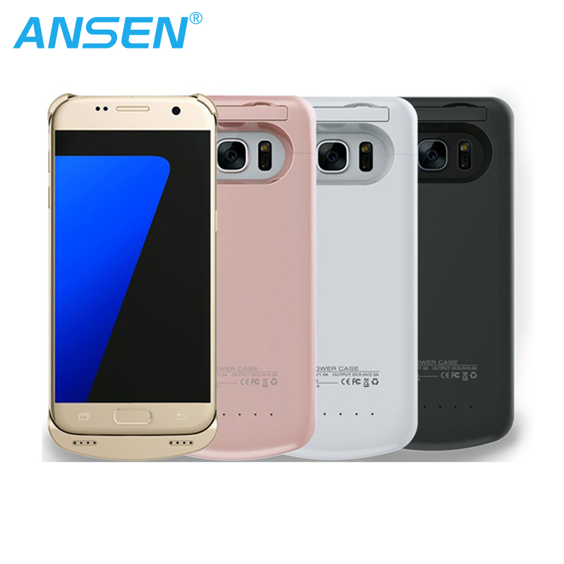 Double Powerful 5200MAH Power Pack Case Portable Mobile Charger Portable Cell Phone Battery Case For Galaxy S7 Edge
