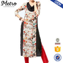 Casual 2016 latest wholesale fancy women long kurta
