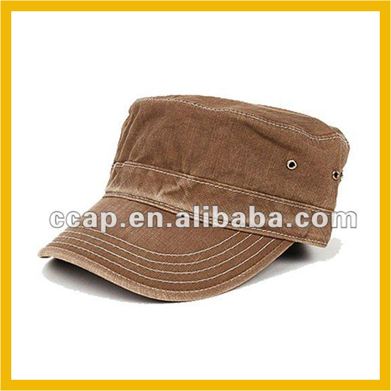 plain military cadet hats army style caps