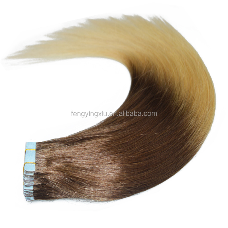 Factory price Wholesale Raw Unprocessed Remy Tape Hair Extensions 12-22 Inches Virgin Straight Brazilian Remy Hair