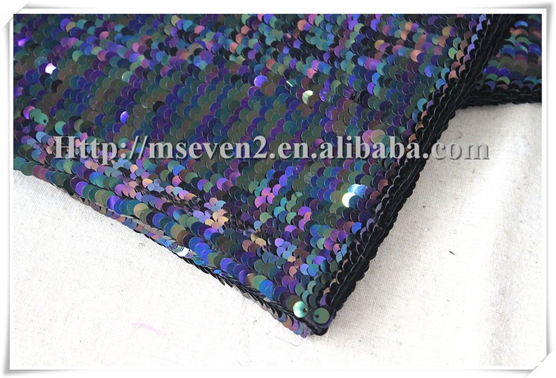 Wholesale 2016 latest colorful sequin trims upholstery fabric for textile
