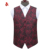 Nice Design Polyester Paisley Vest Business Mens Waistcoat
