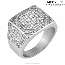 MECYLIFE environmental 3A zircon paved nickel free antique wedding rings
