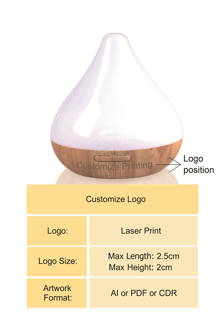 Guoxin pureness type 300ml electric commercial ultrasonic scent essential oil aroma diffuser machine