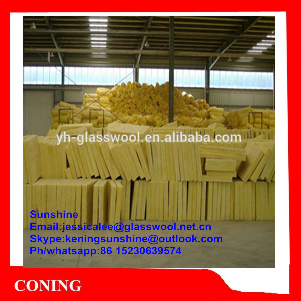 Thermal Insulation glass wool acoustic wall panel/ Glass wool sound isolation material