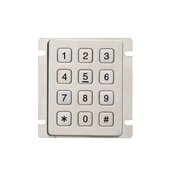 best metal keypad with connector options 12keys numeric keypad function touch keys number pad lock for door dial pad