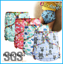 Elinfant waterproof bamboo fitted baby cloth diaper baby adjustable diaper one size fit all