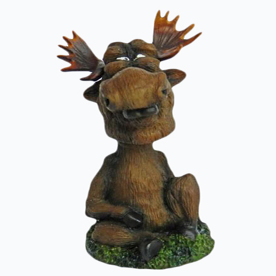 2014 New Product Moose Poly Resin Wholesale Bobbleheads