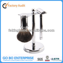 Personalized stainless steel safety razor shaving set