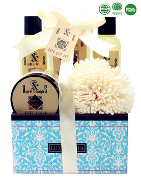 2017 New Moisturizing Bath Spa Sets With GMPC/ISO Certificated Argan&Eucalyptus Fragrance
