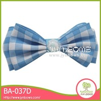 Blue and white plaid christmas curly ribbon bows