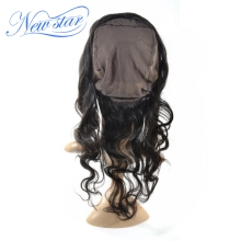 New Hair Style Body Wave 22.5x4x2 Brazilian Virgin Hair 360 lace frontal With Cap
