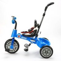 Top quality foldable 10'' baby tricycle with canopy