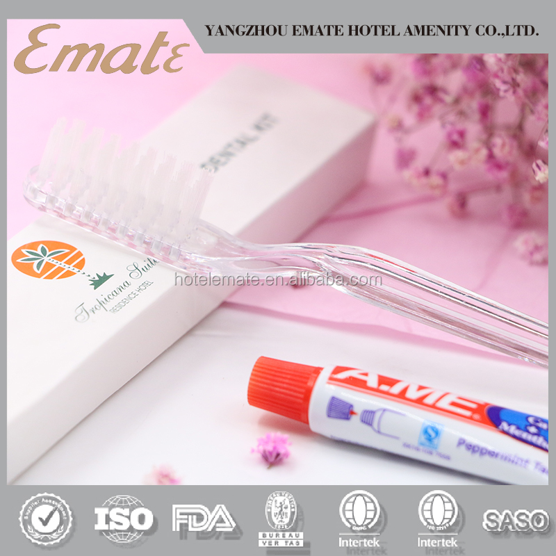 Cheap disposable hotel toothbrush with toothpaste