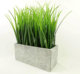 Potted artificial greenery artificial grass in square pot