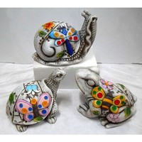 """Snail & Frog & Turtle"" Animal and flower sculpture garden decoration"