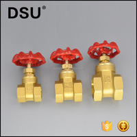 "1/4""-4"" female Thread Forged Brass Gate Valve in stock"