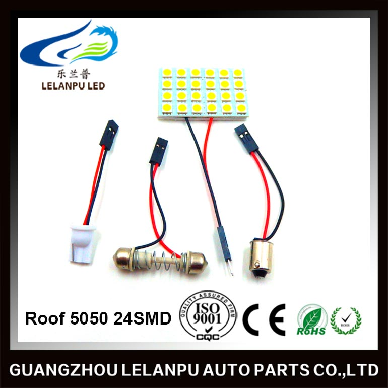top quality roof light 5050 24SMD BA9S car dome lamp