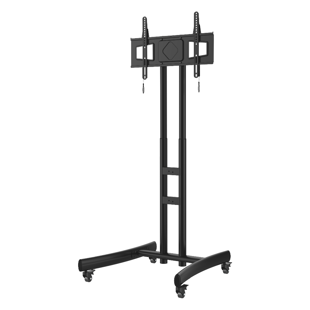 PM-ST600 vesa 600 x 400 moveable free standing TV Cart/<strong>stand</strong> with wheels