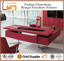 OEM 2014 high quality cheap price black office modern executive leather top office desk