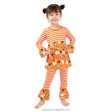 Wholesale boutique suppliers baby Halloween clothes two piece outfits