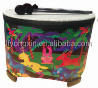 2016 High Quality Orff Percussion,Musical Instruments Mini Wood Color Drum