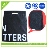 eco tote laminated shopping die cut sealed bag