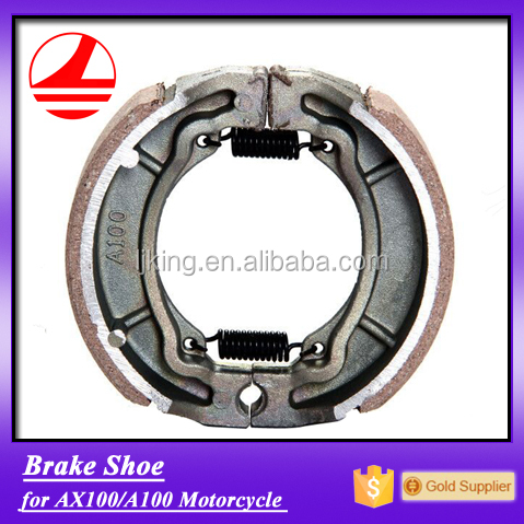 china factory export AX100 motorcycle brake shoe lining
