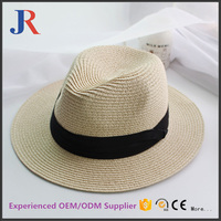 2017 new promotional cheap summer straw fedora hat