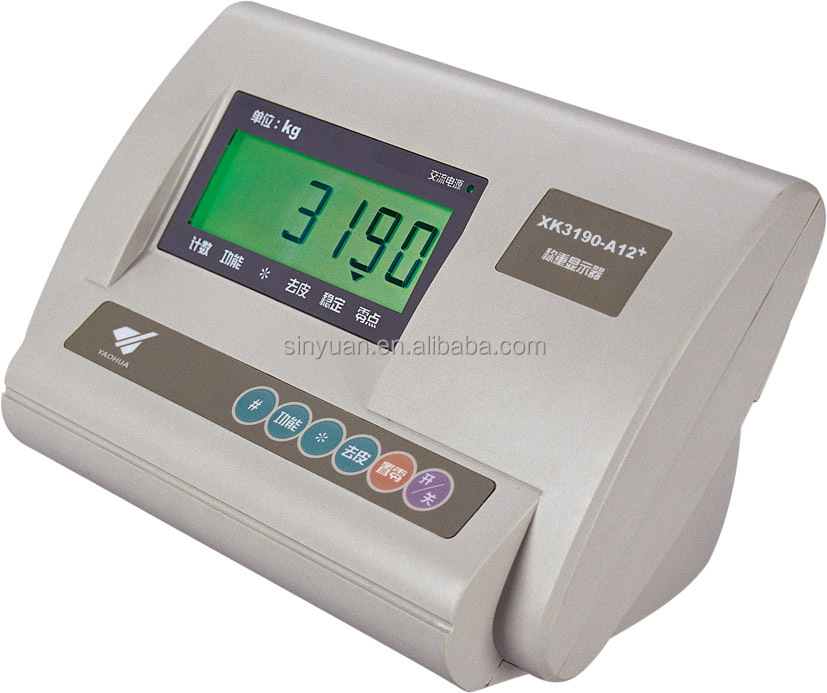 Yaohua platform scale bench scale a12 weighing indicator