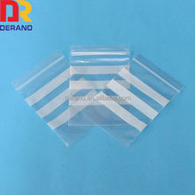 clear poly ldpe ziplock bag white block