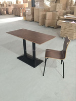 Classic walnut color dining table and chair for food court(FOH-CXSC67)