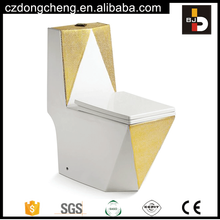 Hot selling golden color washdown one piece wc toilet for middle east market