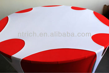 elegant top cover with hole,spandex Lycra stretch table cloth,table cover,table linen,