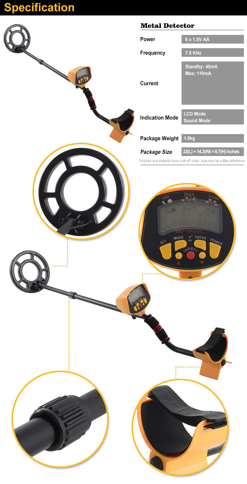 9020C Ground search hobby best gold metal detector