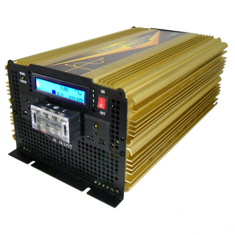High efficiency DC12V TO AC220V IBD 3000W continuous power inverter 6000 watt peak for home use