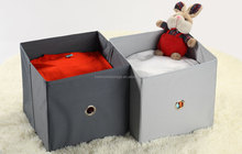 New 100% polyester storage container fabric foldable storage box with lid