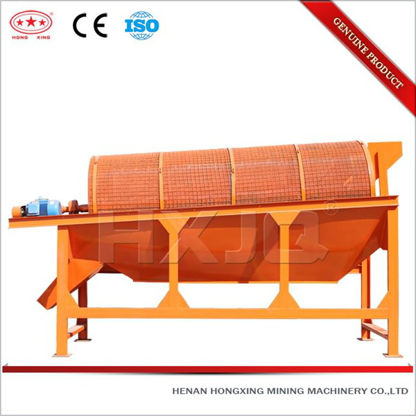 Waste recycling effective rotary screen separator for gold washing
