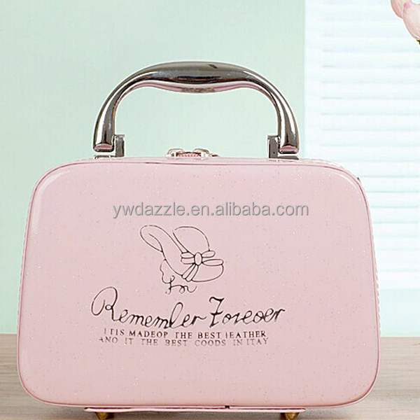 2014 high quality colorful jewelry modella ladies' promotional cosmetic bag with handles