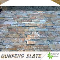 natural yellow landscaping slate rock cement stone