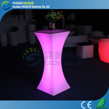hot sale LED illumination glowing bar table cocktail table with remote controller