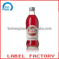 Taizhou BOPP 250cc adhesive sticker new label maker
