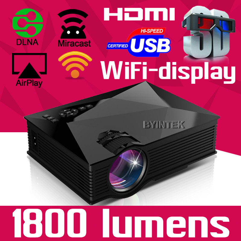 best product for you! mini projector mobile phone 1800lumens Video HDMI USB VGA Full HD 1080Pmini 3D LED Projector beamer