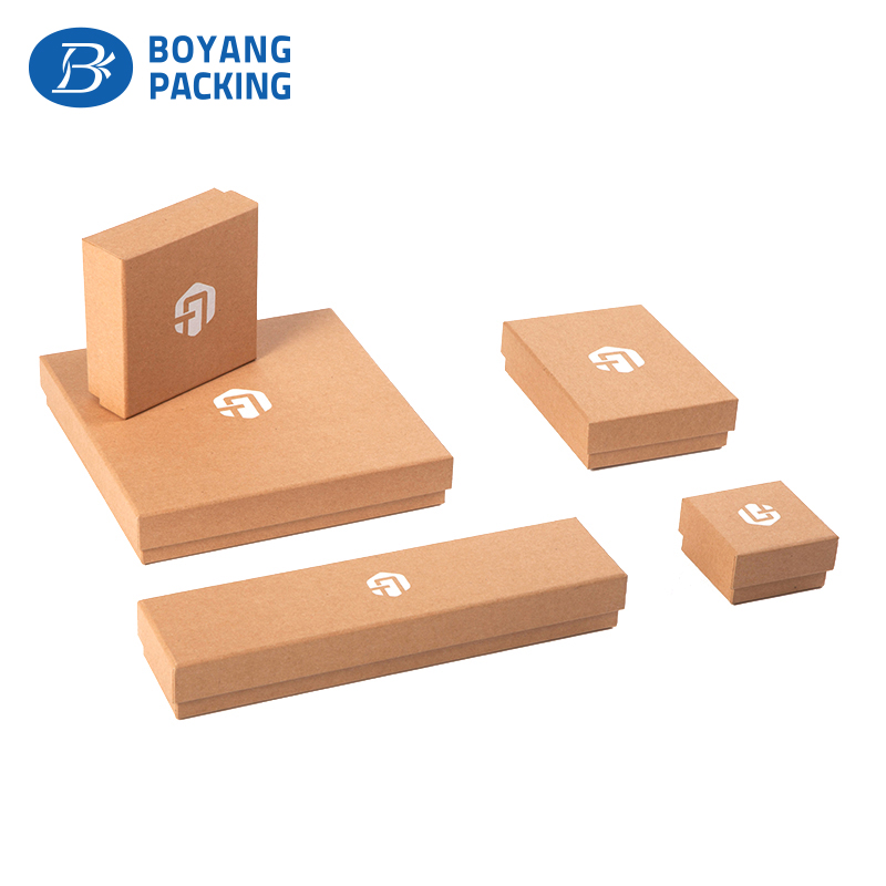 high quality kraft paper jewelry boxes with logo printed